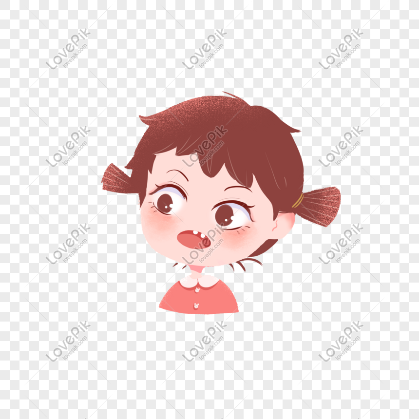 Cute Cartoon Big Eyes Little Girl Png Image Picture Free Download
