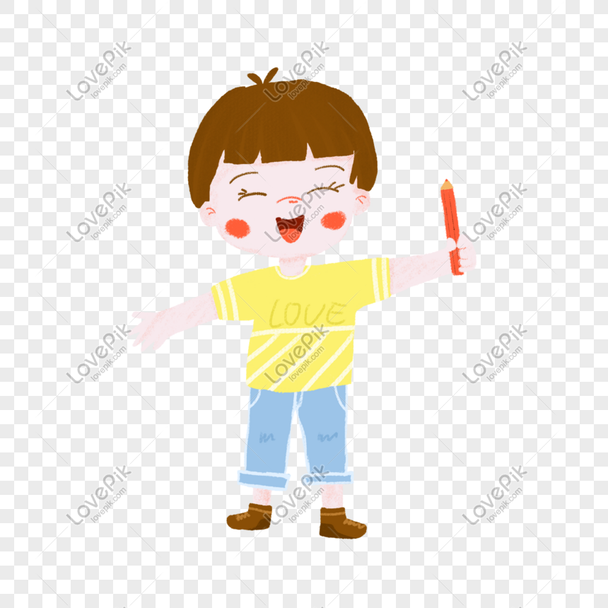 Happy Boy Holding A Pencil In Hand Png Image Picture Free Download 401499655 Lovepik Com 95,000+ vectors, stock photos & psd files. happy boy holding a pencil in hand png