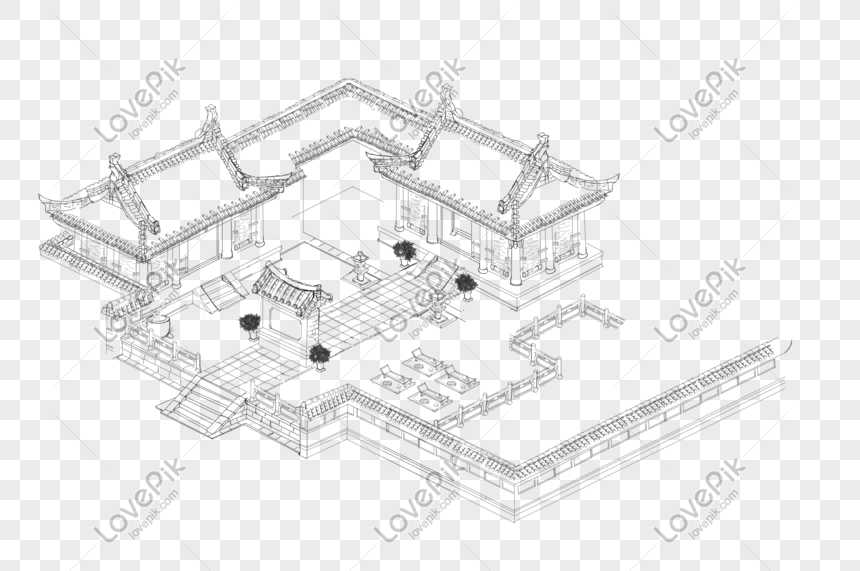 Hand Drawn Ancient House Line Draft Png Image Picture Free Download 401510817 Lovepik Com