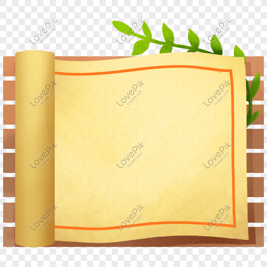 Roll Paper Border Png Image Psd File Free Download Lovepik 401515453