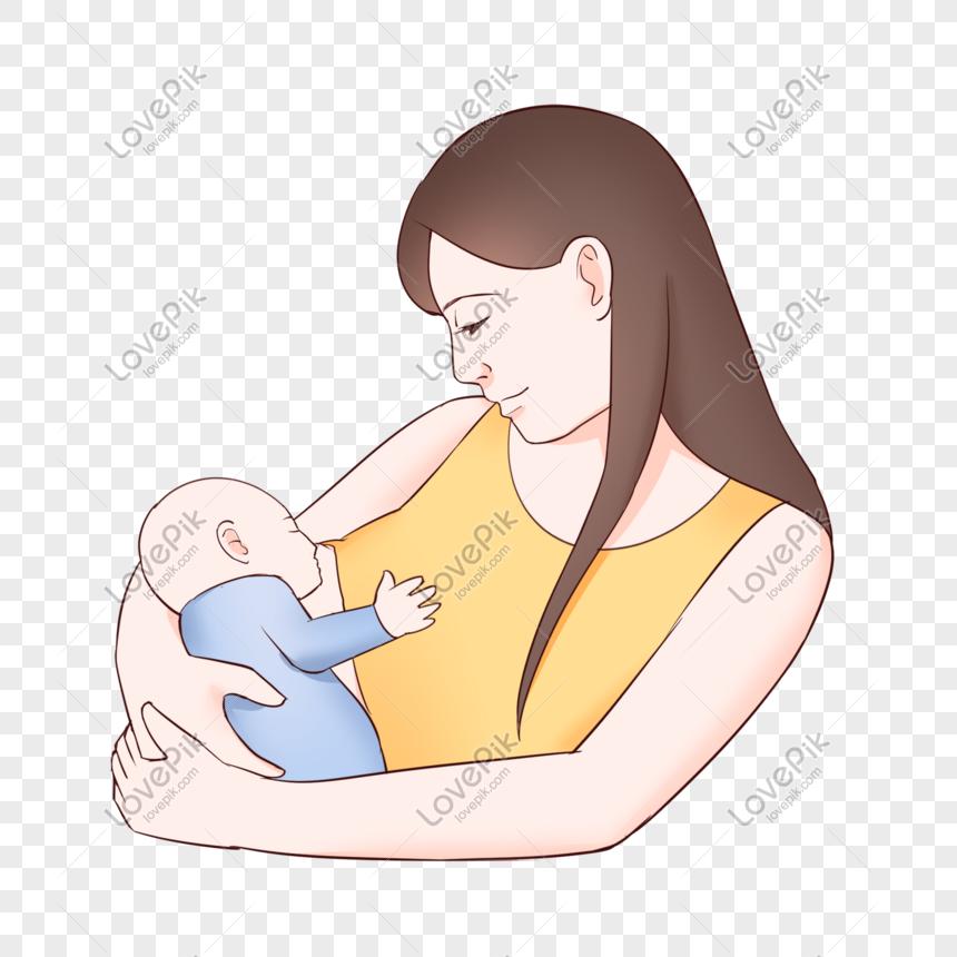 Ibu Dan Bayi Seri Ibu Menyusui Png Grafik Gambar Unduh Gratis Lovepik