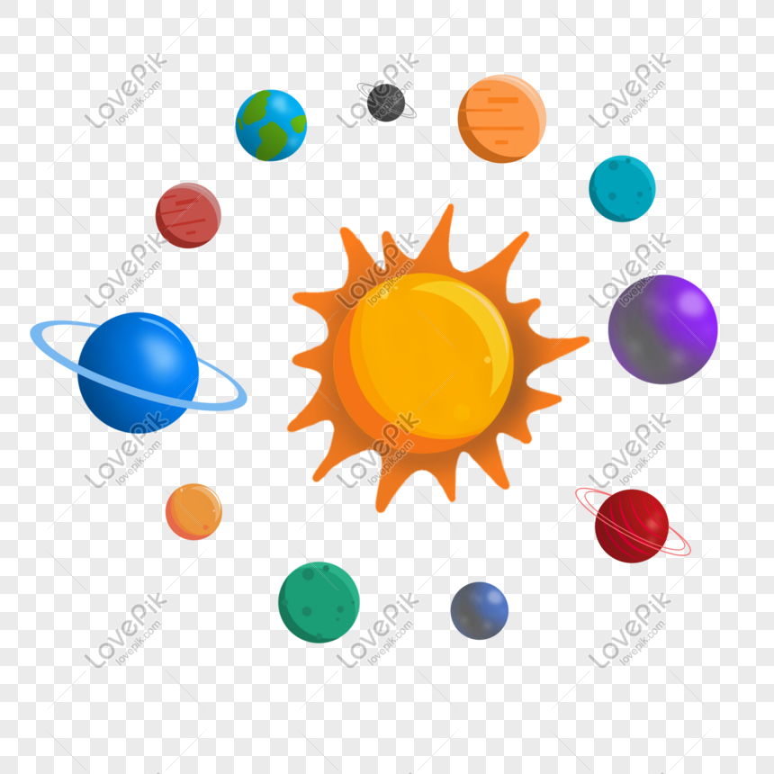 Planet Sistem Suria Gambar Unduh Gratis Imej 401521201 Format Psd My Lovepik Com