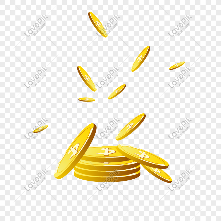 scattered gold coins png