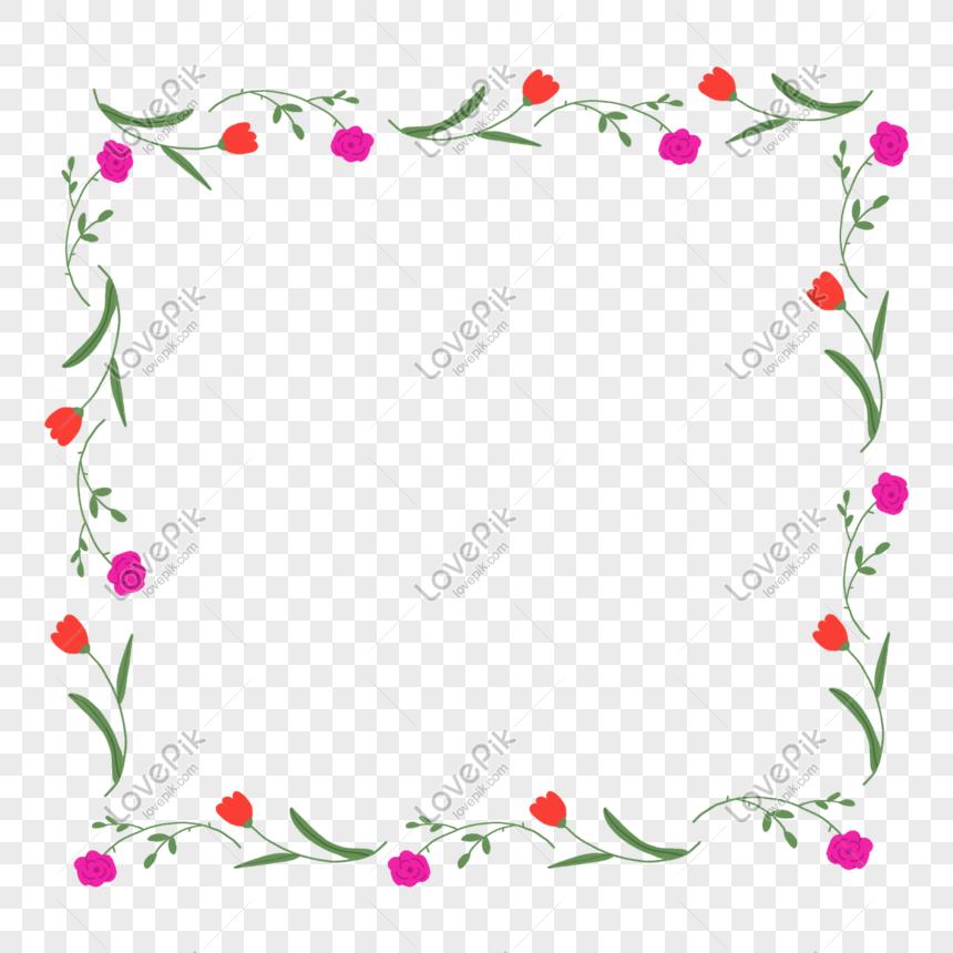 rose palumpon halaman hangganan pagtatabing png