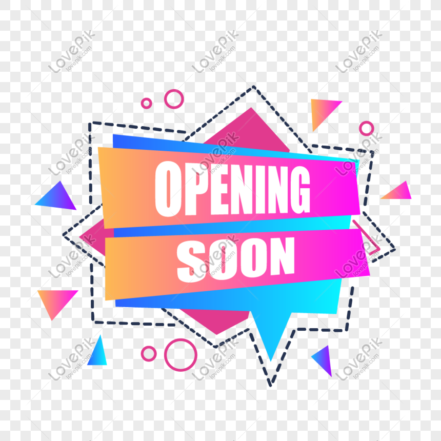 opening ceremony promotion gradient element png