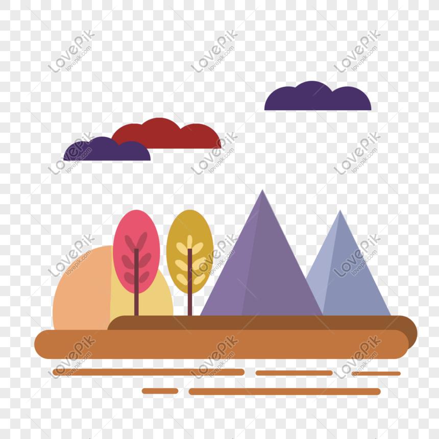 Ícone de paisagem de outono png