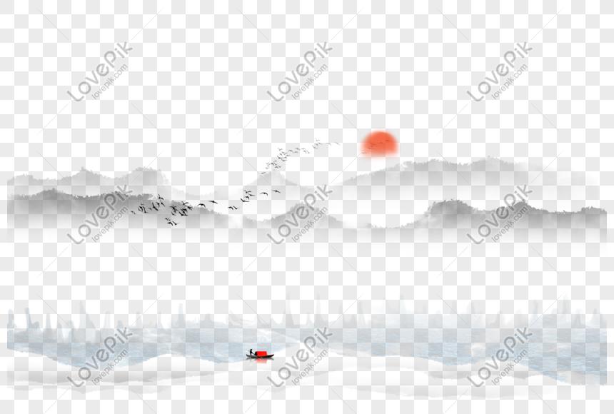 ink landscape png