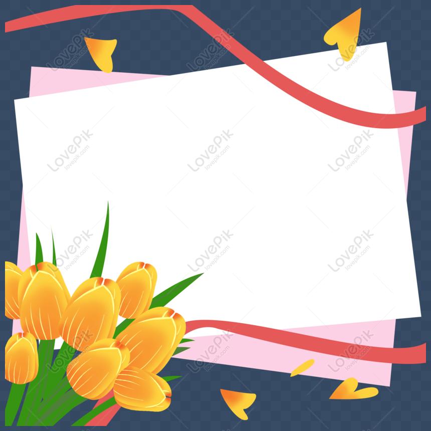 Bunga Gambar Tangan Dekoratif Kartu Ucapan Perbatasan Png Grafik Gambar Unduh Gratis Lovepik