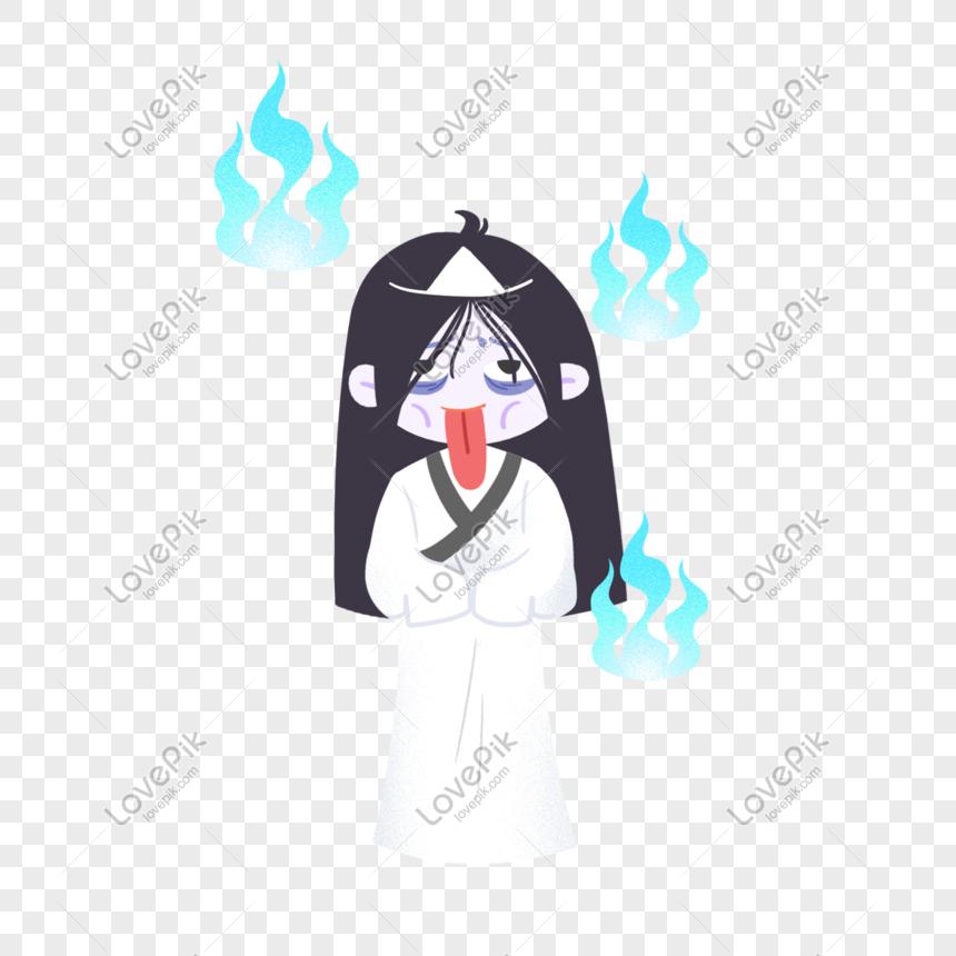 中元節手繪鬼魂 png