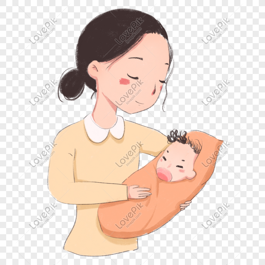 Cartoon Pretty Mother With Baby Png Image Picture Free Download 401548192 Lovepik Com