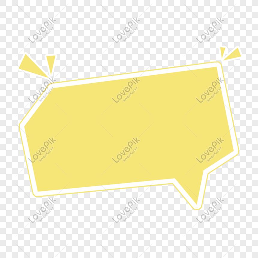 Thiết Kế Hộp Thoại Hoạt Hình Màu Vàng Nhạt Hình ảnh định