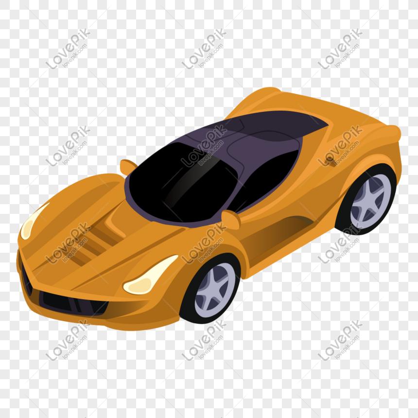 25d Yellow Ferrari Cartoon Car Illustration Png Image Picture Free Download 401552158 Lovepik Com