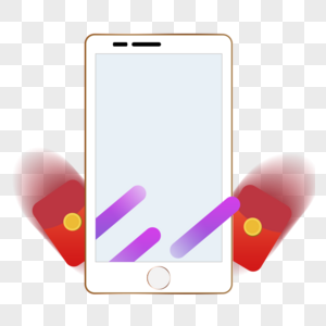 holding mobile phone is snatching red envelope women images_291350