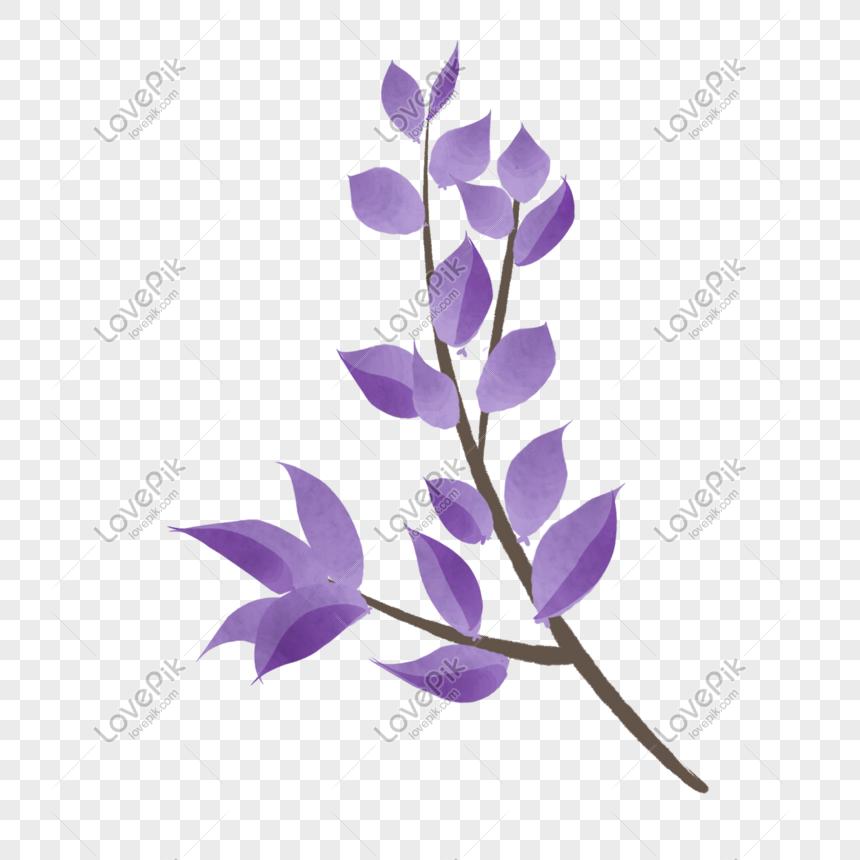 cartoon purple flowers png