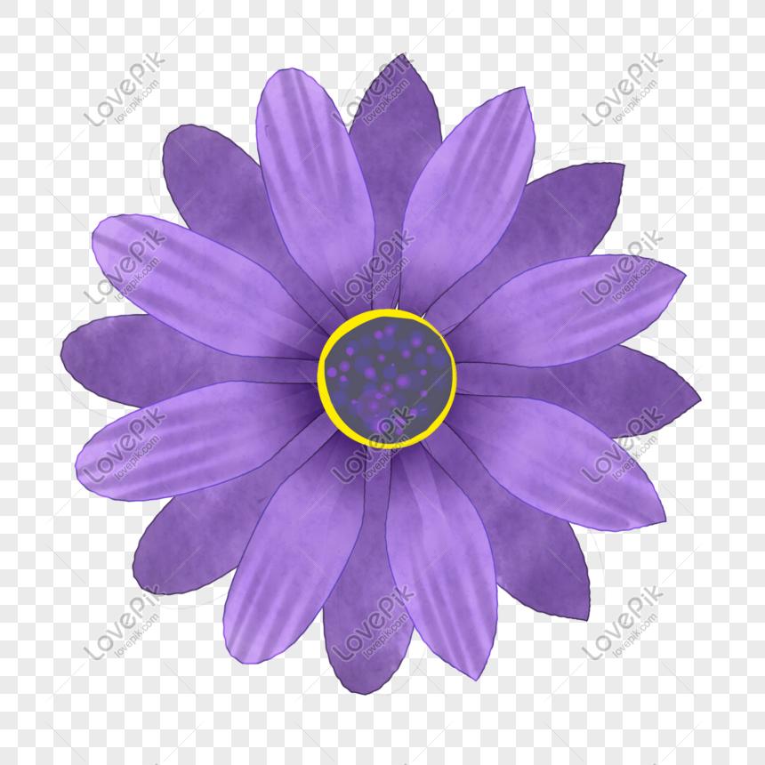 cartoon purple big flower png