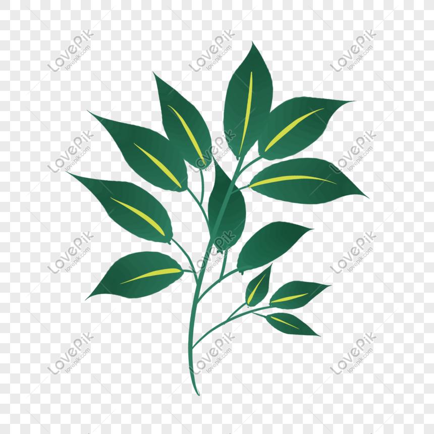 Green Leaf Cartoon Illustration Png Image Picture Free Download 401568917 Lovepik Com