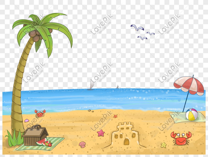 Cartoon Beach Png Image Picture Free Download 401572017 Lovepik Com