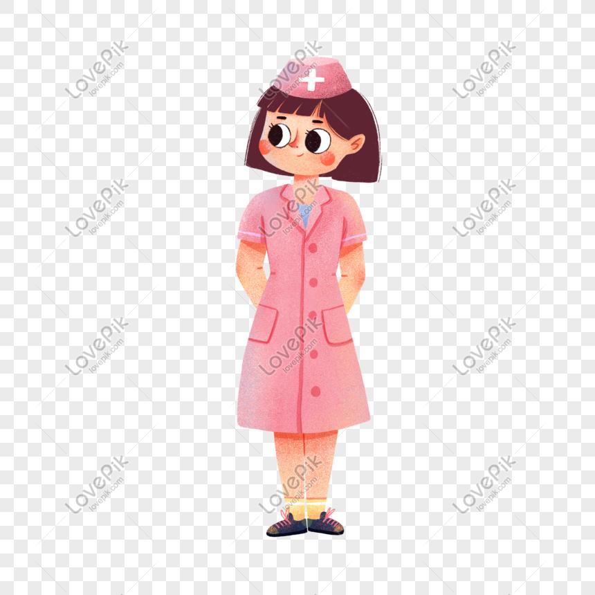 ellerini taşıyan sevimli hemşire png