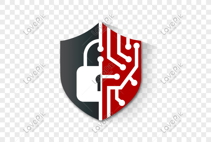 network security lock and shield png