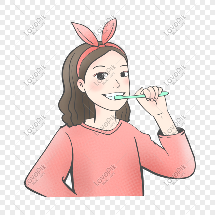 Girl Brushing Teeth Png Image Picture Free Download 401603769 Lovepik Com