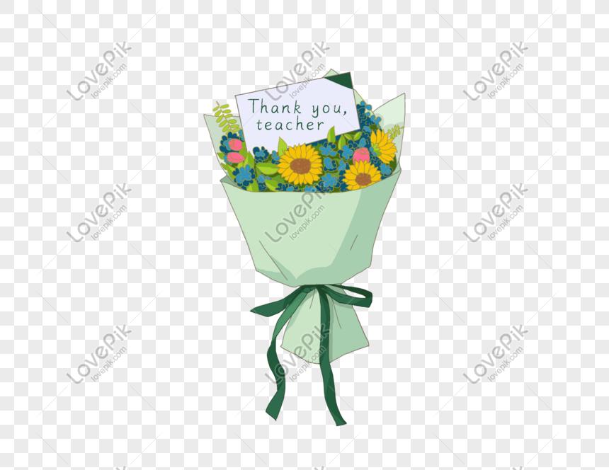 Bunga Hari Guru Png Grafik Gambar Unduh Gratis Lovepik