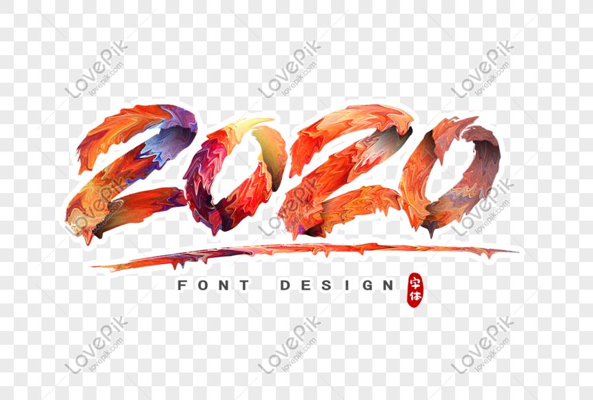 2020 digital font design png