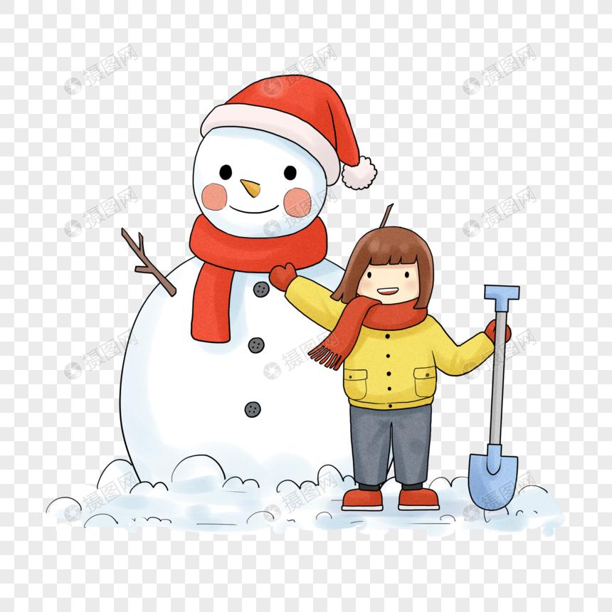 Niña Haciendo Un Muñeco De Nieve Imágenes De Gráficos Png Gratis Lovepik