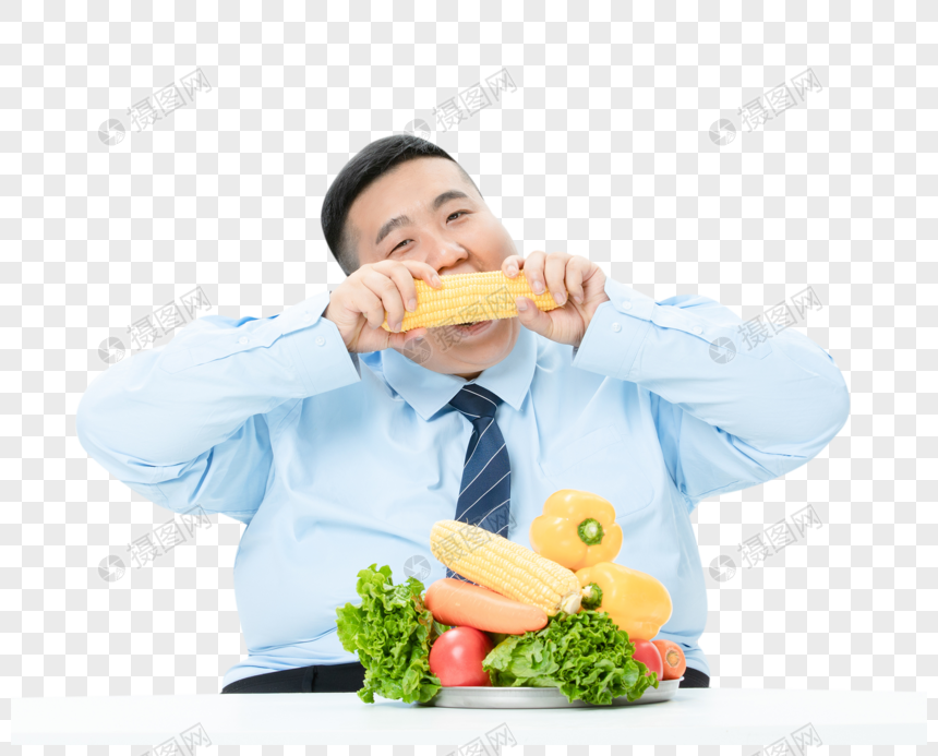 obese business male eating corn png image picture free download 401635151 lovepik com lovepik