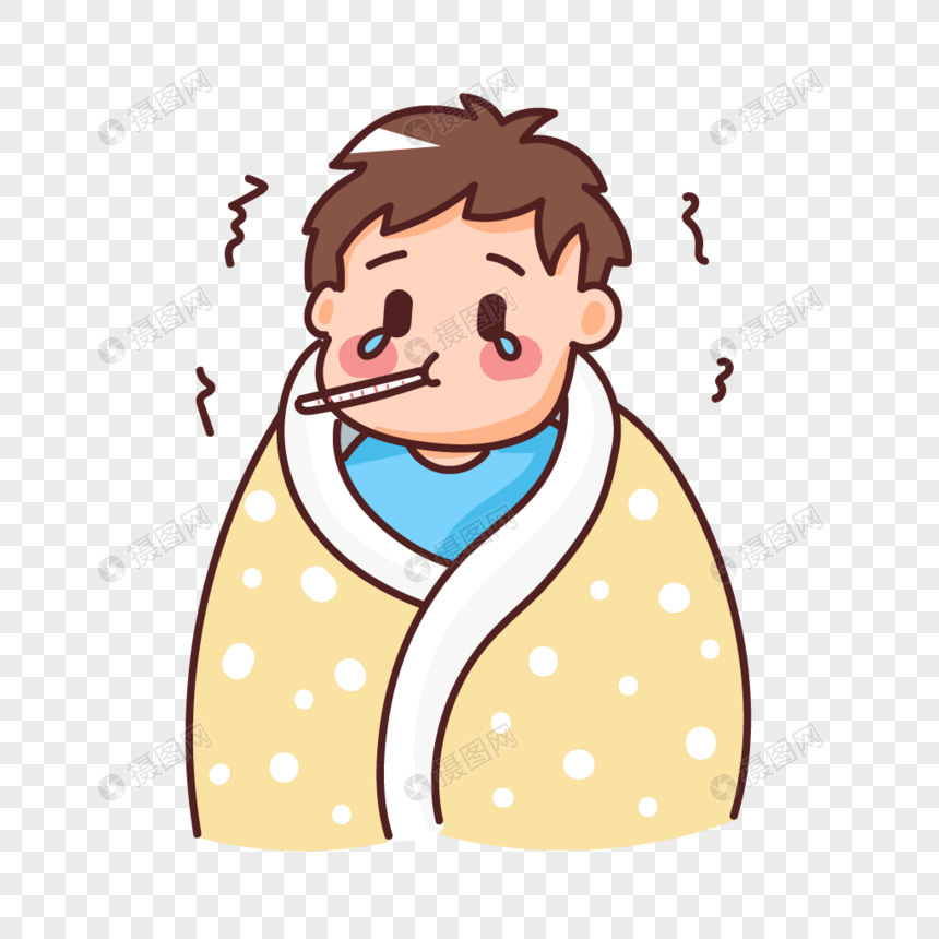 Anak Lelaki Yang Sakit Dengan Demam Gambar Unduh Gratis Imej 401637531 Format Ai My Lovepik Com