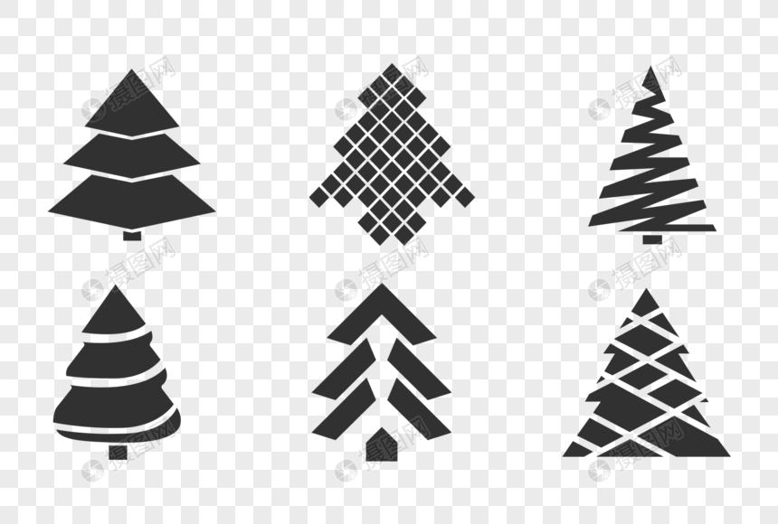 Siluet Pohon Natal Png Grafik Gambar Unduh Gratis Lovepik