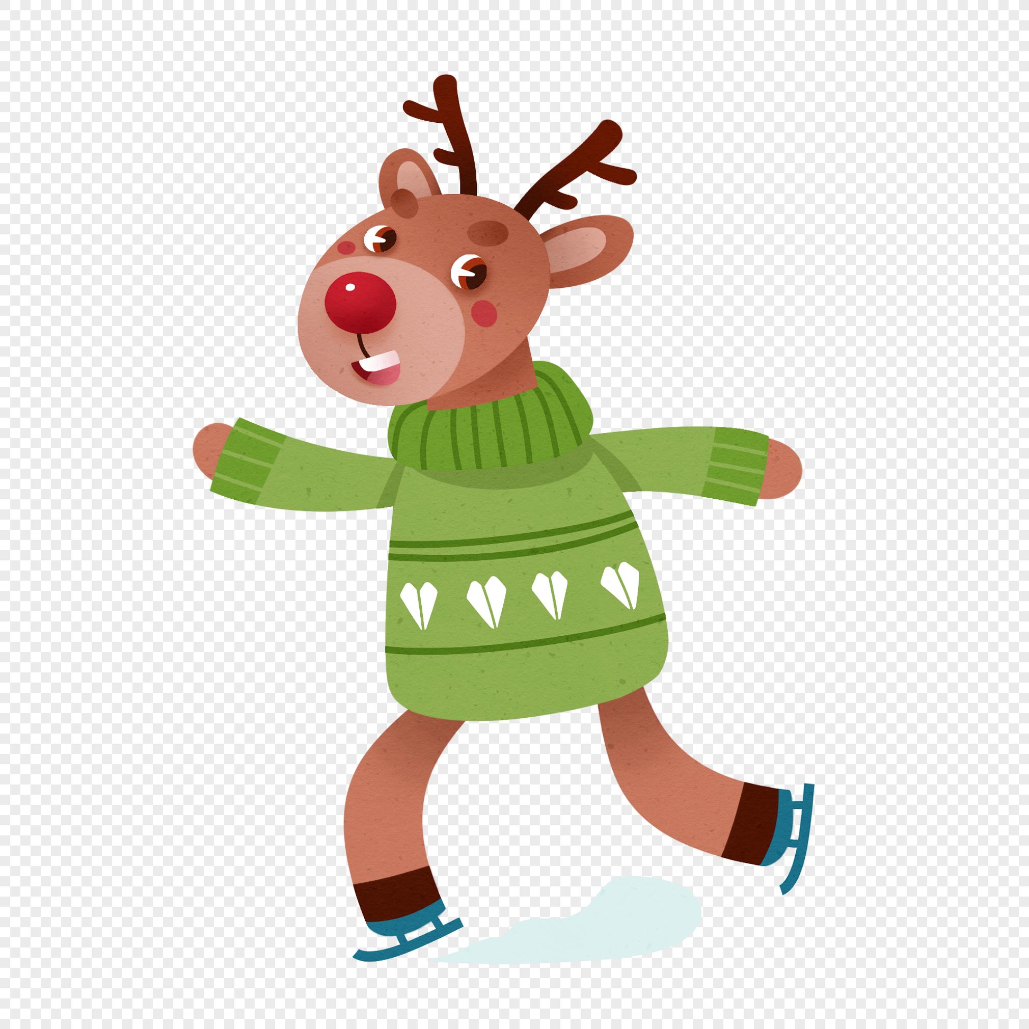 бижутерии красоткой картинки олень в коньках осталось шоке