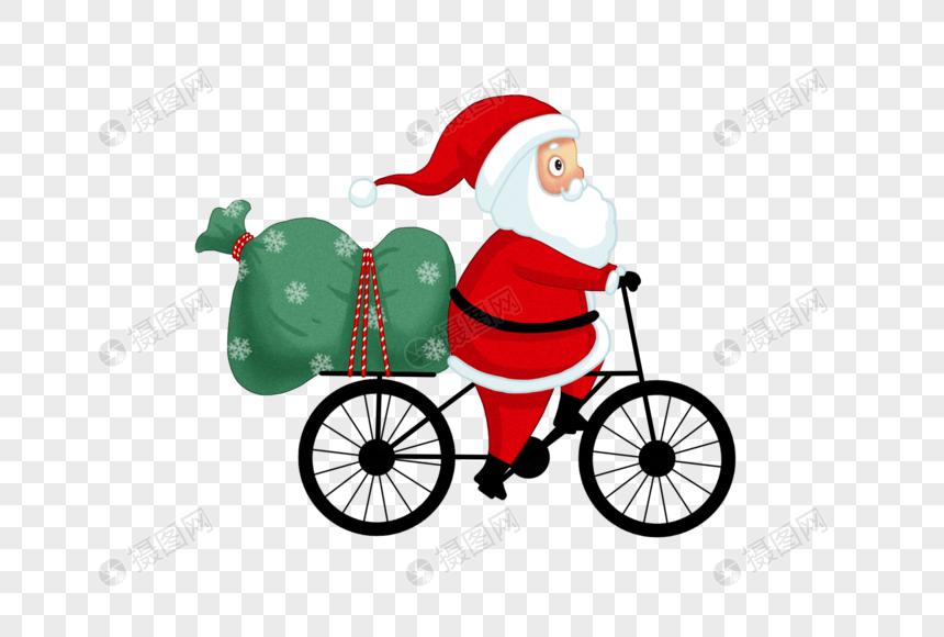 santa claus riding a bike png