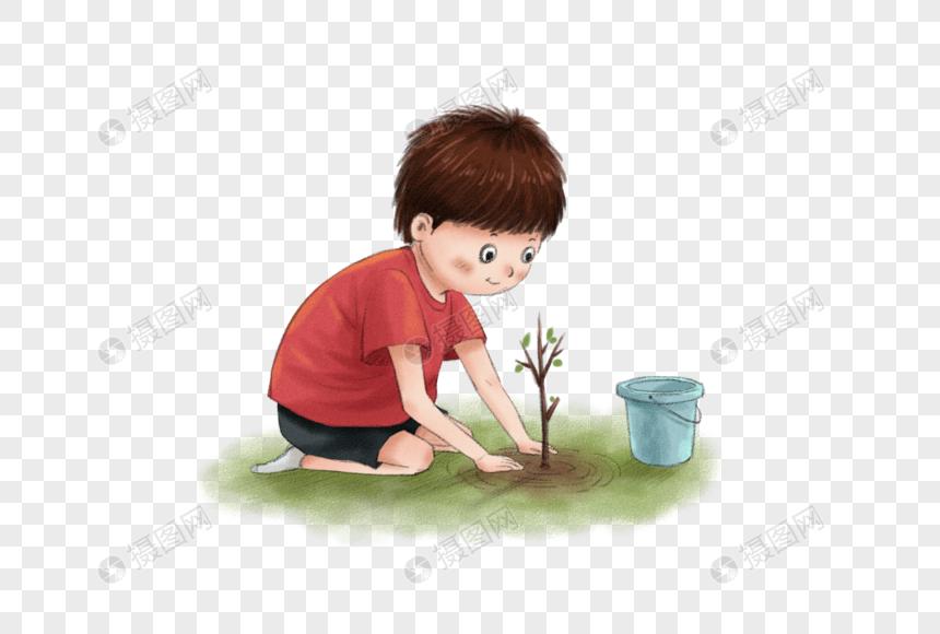 Lovepik صورة Psd 401670434 Id الرسومات بحث صور صبي صغير يزرع شجرة