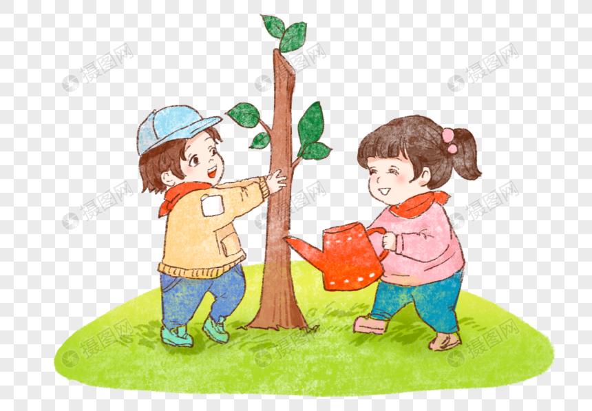 Lovepik صورة Psd 401676084 Id الرسومات بحث صور أطفال يزرعون الأشجار