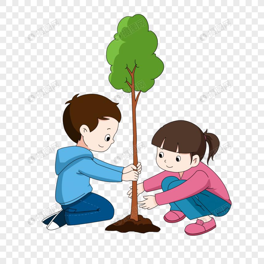 Lovepik صورة Psd 401677892 Id الرسومات بحث صور أطفال الشجرة يوم زرع عناصر الكرتون شجرة