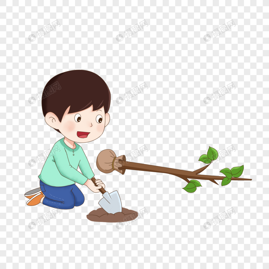 Lovepik صورة Psd 401679695 Id الرسومات بحث صور أطفال الربيع الشجرة يوم زرع عناصر الكرتون شجرة