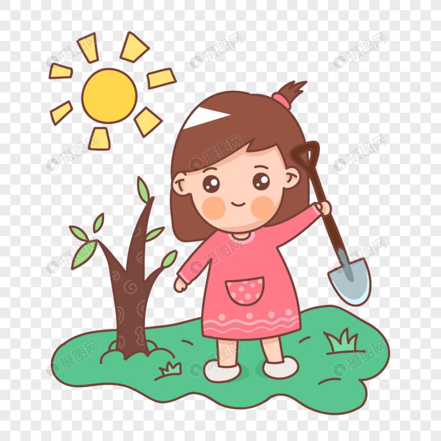 Lovepik صورة Ai 401681634 Id الرسومات بحث صور فتاة صغيرة زرع شجرة