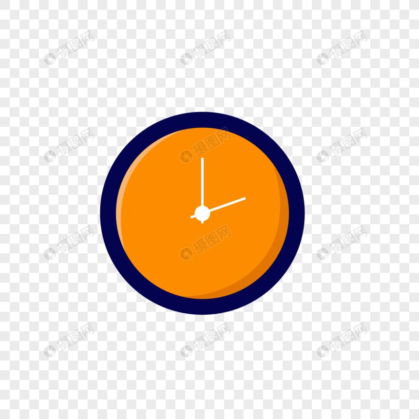 orange clock png