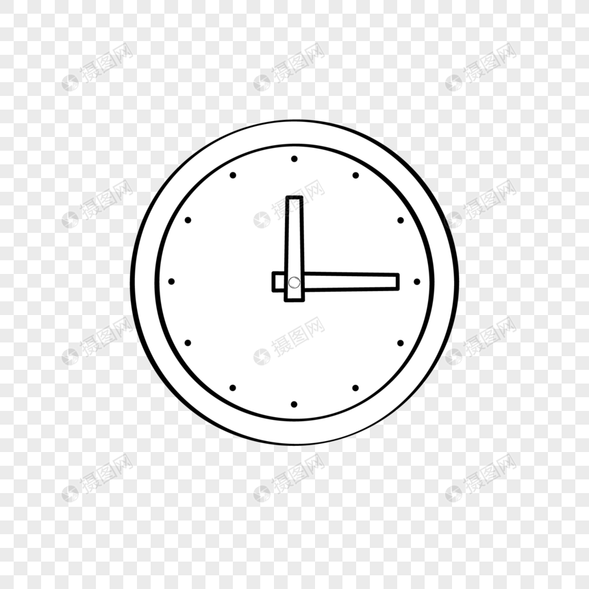 white clock png