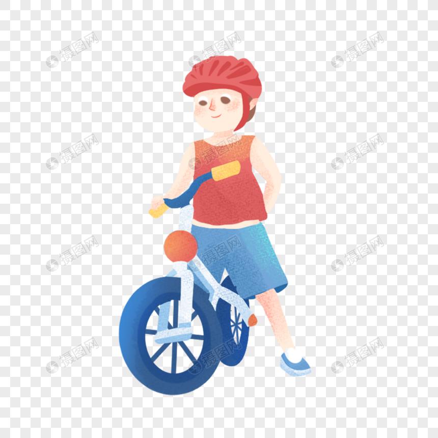 boy riding a bike png