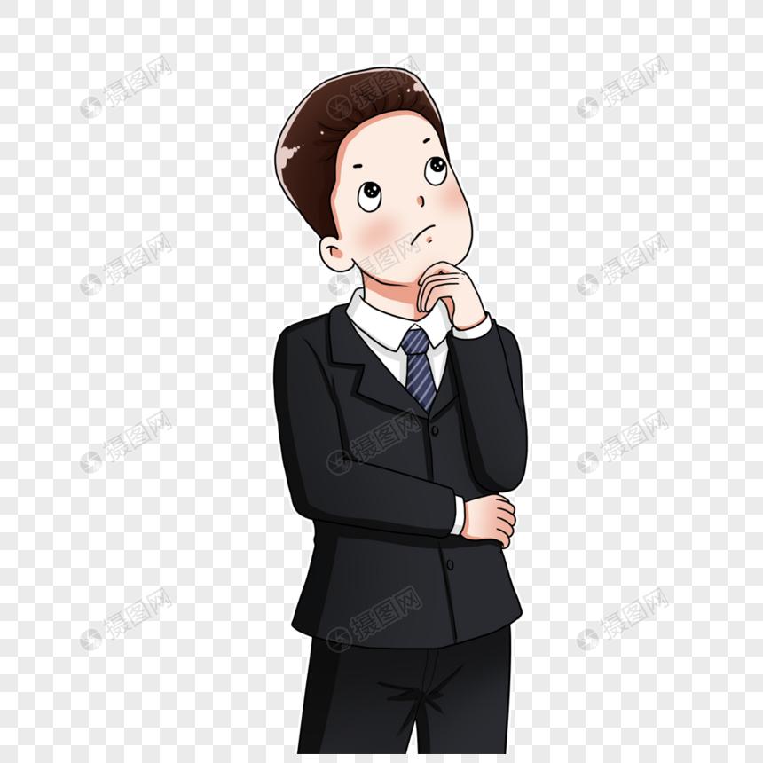Lovepik صورة Png 401762219 Id الرسومات بحث صور رجل يرتدي بدلة يفكر في المشكلة
