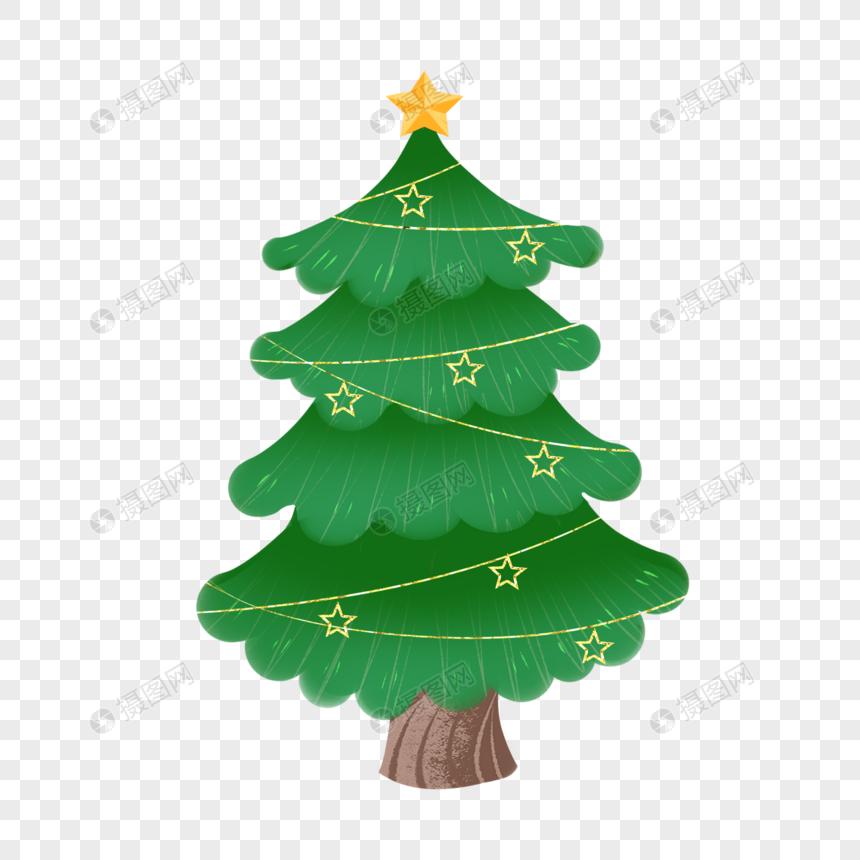 pohon natal dengan dekorasi emas