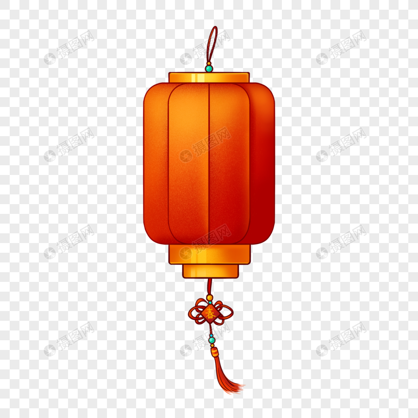 hand painted red lantern png