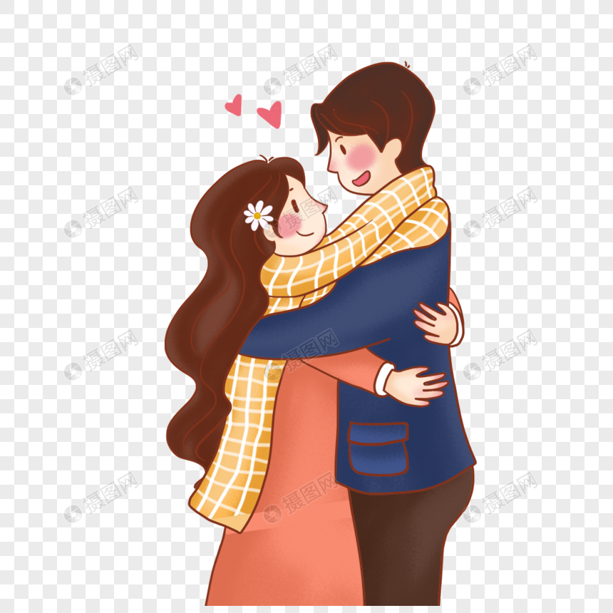 hugging couple png