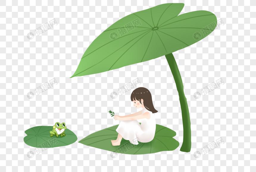 bir lotus yaprağı ile kız png