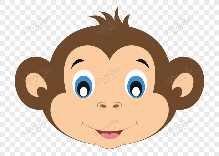 Vector Of Cute Monkey Face Png Image Picture Free Download 450003959 Lovepik Com