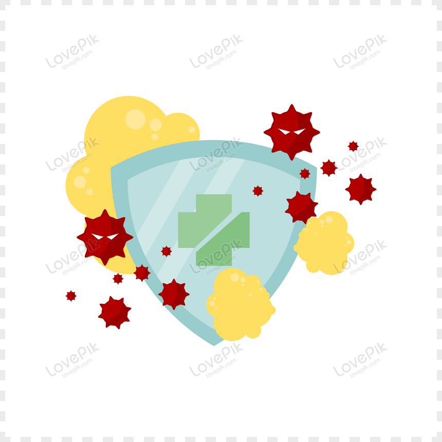 illustration of medical health shield protect from corona virus png