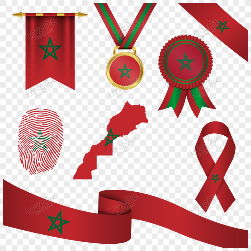 morocco flag in different shapes png