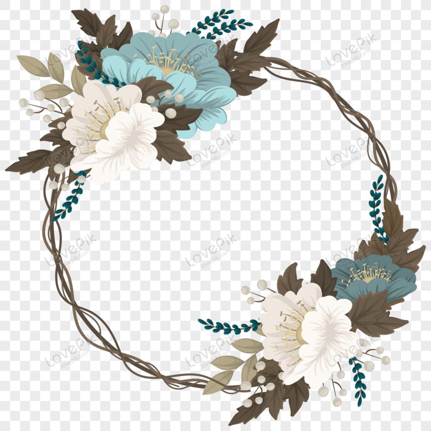 bingkai bunga yang indah dengan desain vintage png grafik gambar unduh gratis lovepik desain vintage png grafik