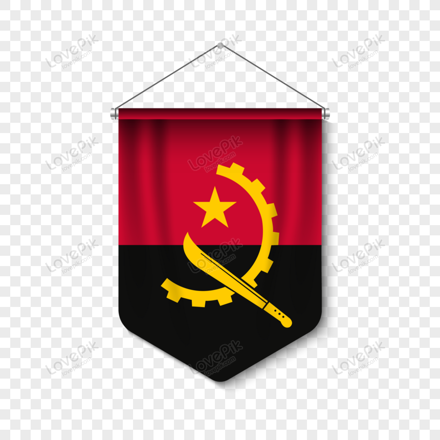 3d realistic pennant with fag angola png